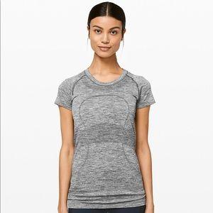 Lululemon Heathered Gray Swiftly T Shirt Top